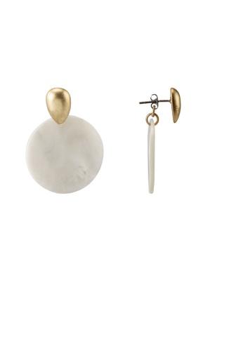 GLOBAL WORK white Flat Earrings 04848AC4F8854EGS_1