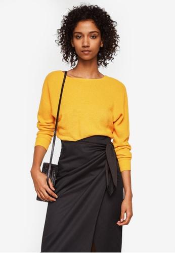Mango yellow Knot Detail Sweater EC400AA06CF623GS_1