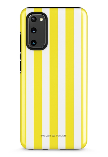 Polar Polar yellow Yellow Stripe Samsung Galaxy S20 5G Dual-Layer Protective Phone Case (Glossy) 0A7C7AC3C5D06BGS_1