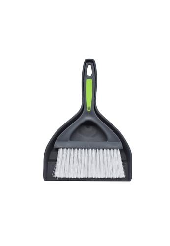 Scrubz green Heavy Duty Cleaning Essentials Easy Grip Premium Dustpan with Brush A2B6AHLAB70355GS_1