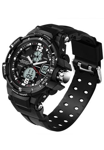SANDA black SANDA 289 Waterproof Outdoor Multifunctional Sports Men's Quality Shockproof Digital Watch (Black) SA708AC0RXBBMY_1