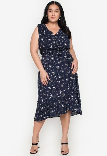Flaunt Plus multi Wrap Sleeveless Dress 1F5BEAAE566900GS_1