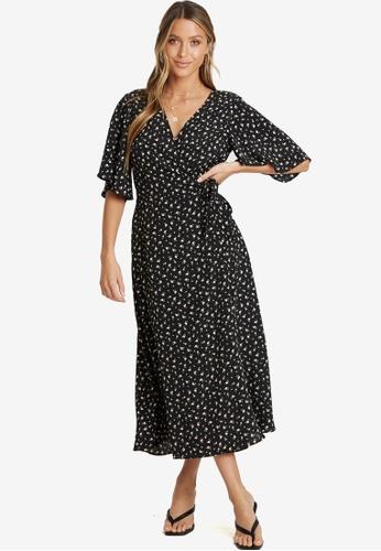 Savel black Reign Midi Dress 15DDCAA865D4DEGS_1