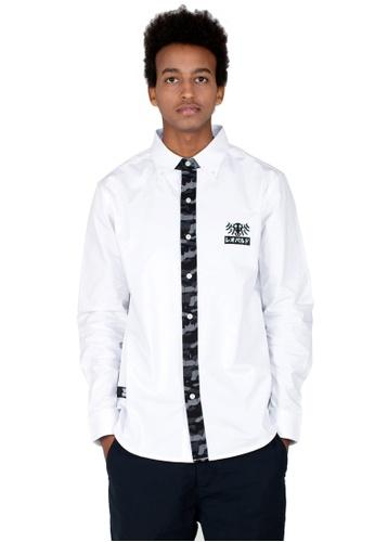Reoparudo 白色 RPD 城市迷彩拼布牛津恤衫(白色) AD269AA6911EF2GS_1