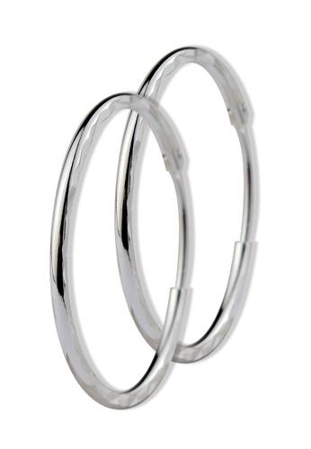 SC Tom Silver silver Ladies Loop Earrings- TEL001 SC872AC31CCUPH_1