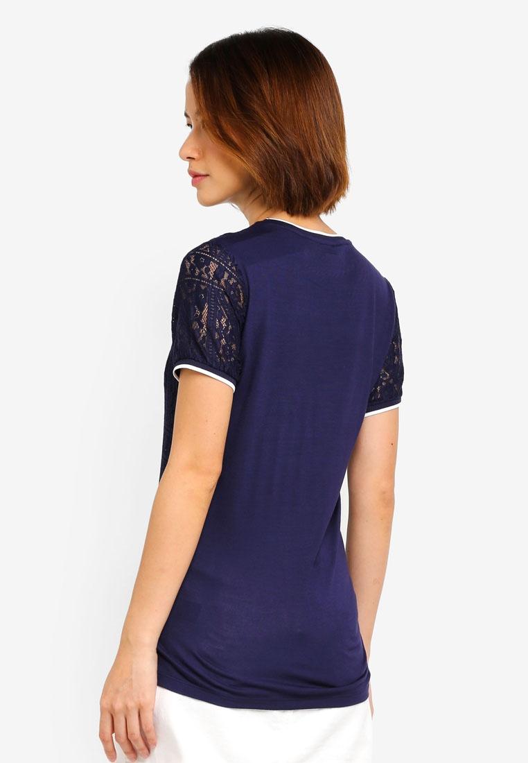 Dorothy Lace Navy Tshirt Blue Perkins wTw78