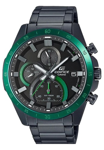 CASIO black Casio Edifice EFR-571DC-1AVUDF Green and Black Stainless Steel Watch 2439EACF095317GS_1