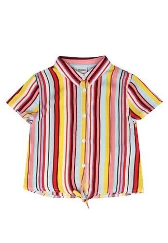 LC Waikiki multi Girl Striped Viscose Shirt 8F21DKAD7DDFD8GS_1