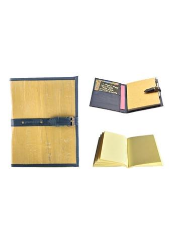 Jacinto and Lirio navy Pacem II Medium Blank Refillable Vegan Leather Journal 39C03HL660A997GS_1