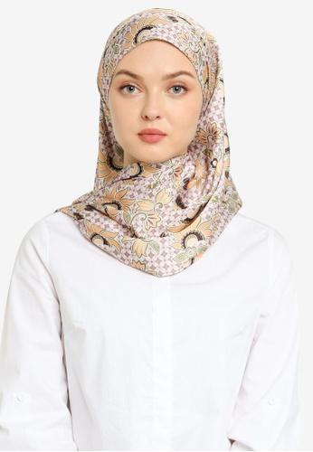 Hijabii 褐色 Choraque Shawl in Brown 8E6E1ACD58FD3CGS_1