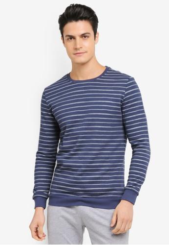 JAXON blue Stripe Sweatshirt 0D15BAA6640AD0GS_1