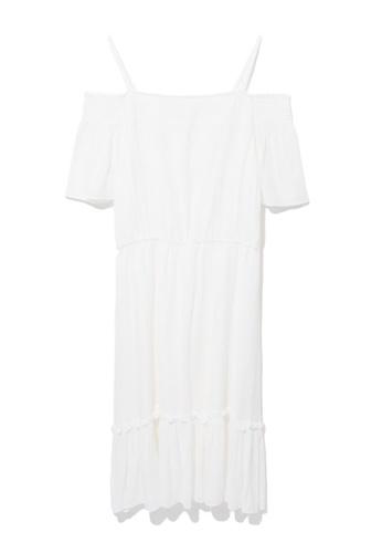 b+ab white Off shoulder frill hem dress ADF6BAA7AE4237GS_1