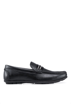 20e3cf9c329eb Bata black Textured Loafers E4996SH3048F63GS 1
