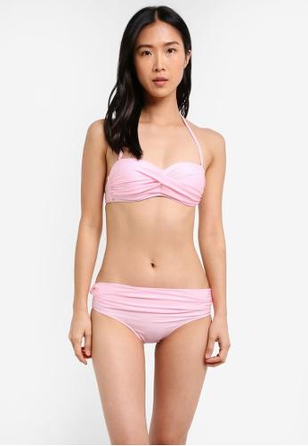 PINK N' PROPER pink Basic Bandeau Push Up Bikini PI108US0S5DAMY_1