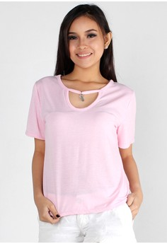 Simple Sweet Charm Cut Out Top