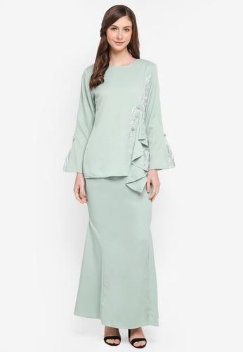 peace collections green Lace Patch Baju Kurung Modern 60C22AA4AFE944GS_1