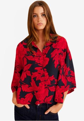 Mango red Floral Print Blouse 11863AAA728DE6GS_1
