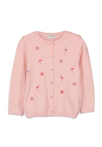 LC Waikiki pink Knitwear Cardigan E7FCCKAF48A362GS_1