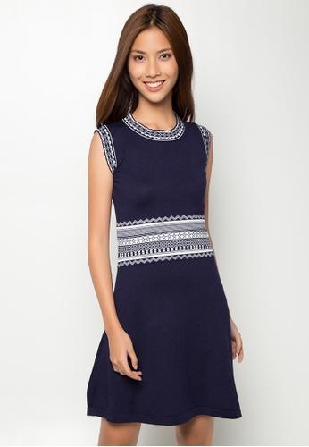 Pink Tequila navy Short Dress PI048AA26BDTPH_1