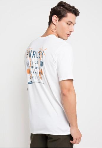 hurley white Flip Side T-Shirt 6BA2BAA5BABCBDGS_1