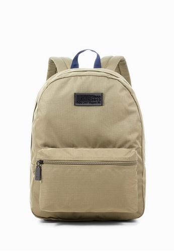Life8 brown Casual lightweight backpack-06401-Khaki LI283AC0GHWUSG_1