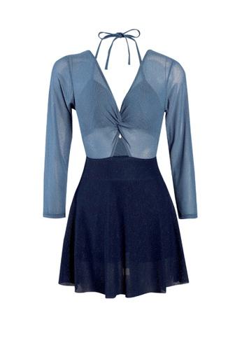 Its Me blue Elegant Color Block Big Backless One-Piece Swimsuit 19122US26452A4GS_1