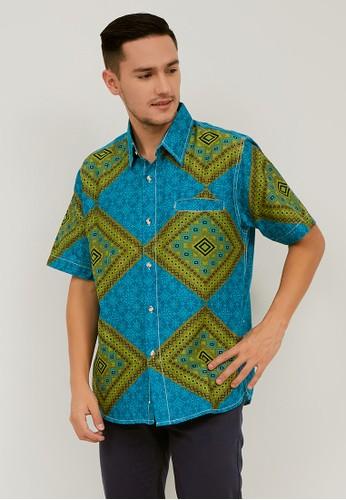 Batik Wibowo green Irbid Batik Shirt 404F2AA8ECCDBFGS_1