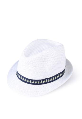 LC Waikiki white Boy's Piping Detailed Straw Fedora Hat DBFF2KCBA4FC3DGS_1