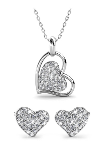 Her Jewellery silver Swarovski® Crystals -Happy Love Protection Set (18K White Gold Plated) Her Jewellery HE581AC0RDPHMY_1
