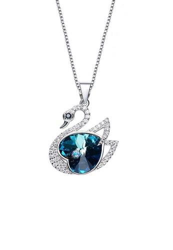 ADORA Silver Swan Pendant Necklace AD365AC2VN3XHK_1