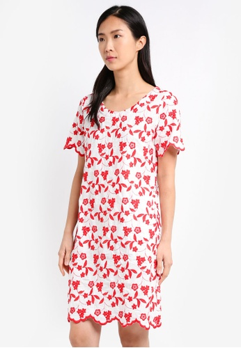 Geb. red Floral Dress GE945AA0SY32MY_1