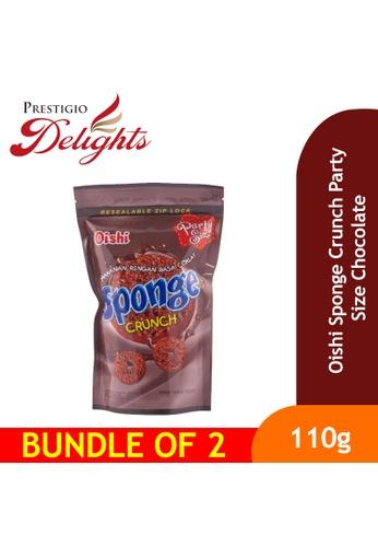 Prestigio Delights Oishi Sponge Crunch Party Size - Chocolate 110g Bundle Of 2 0A49FESC3312A7GS_1