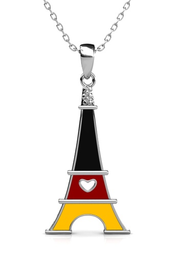 Her Jewellery silver Union Tower Pendant (Germany) - Made with Premium grade crystals from Austria 5BE12AC18D623FGS_1