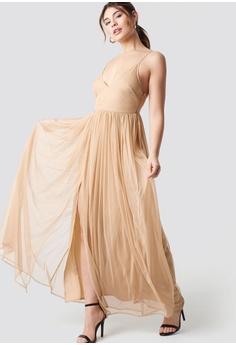 c02b0cb460bef 5% OFF NA-KD Front Slit Flowy Dress RM 451.90 NOW RM 428.90 Sizes 34 36 38  40