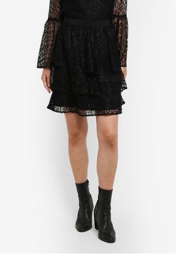 Selected Femme black Marcia Lace Skirt SE157AA0S5R1MY_1