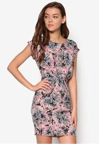 花卉印花抓皺無袖洋裝, 服飾,esprit服飾 洋裝