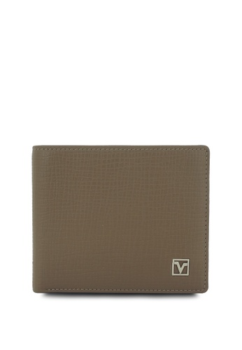 Valentino Rudy brown Valentino Rudy RFID Secure Leather Bi-fold Wallet with Center Flap 3F116AC8FABC09GS_1