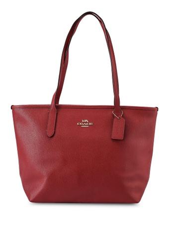 Coach red Zip Top Tote Bag (cv) 35C82AC54ACB81GS_1