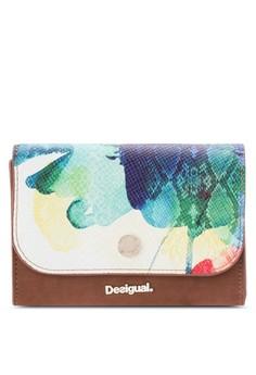 Desigual-Dos En Uno 水彩色調掀蓋皮夾
