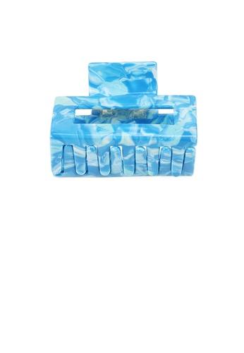 Glamorousky blue Fashion Simple Blue Pattern Geometric Hair Claw E6920AC9C8801FGS_1