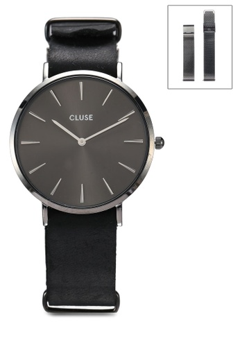 CLUSE grey Special Edition La Boheme Mesh Dark Grey Gift Box 23A11ACDD86132GS_1