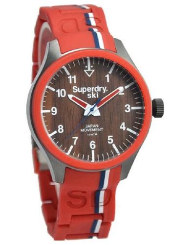 Superdry Jam Tangan Pria Merah Rubber Strap STG185R