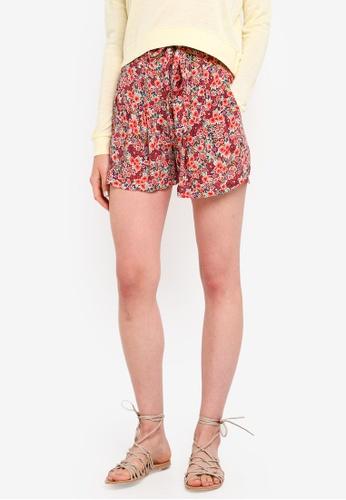 Jack Wills 粉紅色 花卉綁帶短褲 5C874AA6164433GS_1