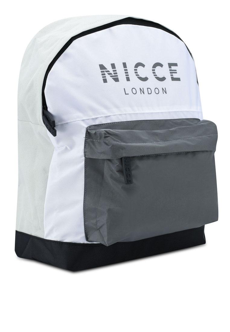 7323f074882dd0 ... Backpack Reflective London Friday Spliced Black Nicce Logo Grey White  6OnxqZx ...