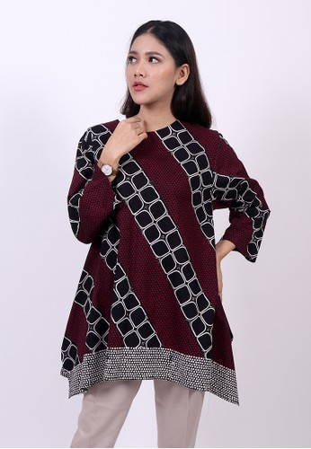 ENOM black and red Advi Blouse B4D13AA857DE52GS_1
