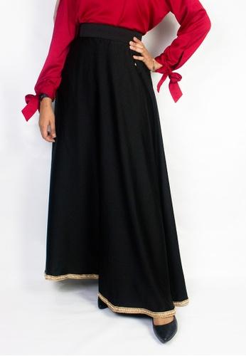 Zaryluq black High Waist Maxi Skirt in Pearl Black CCA6DAA0FE63E0GS_1