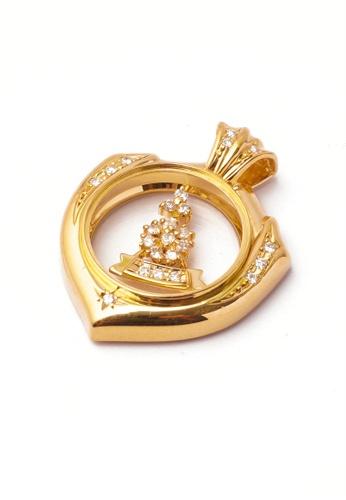 CEBUANA LHUILLIER JEWELRY gold 18 Karat Yellow Gold Pendant With Diamonds 89227AC4BA95EDGS_1
