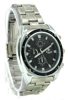 Valia Finley Unisex Black Stainless Steel Strap Watch 8169-2