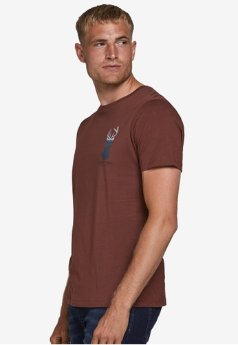 Produkt brown Real Short Sleeves Tee 6E380AA5C06BFAGS_1