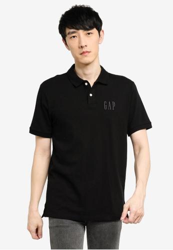 GAP black Logo Pique Polo Shirt DEDEDAA7626DDAGS_1